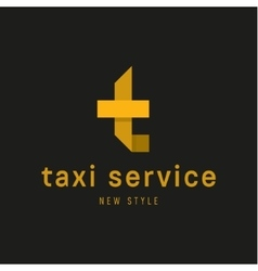 Logos Taxi Service sign Abstract geometrical vector image