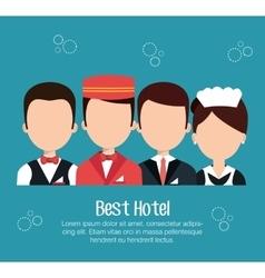 hotel service design vector image
