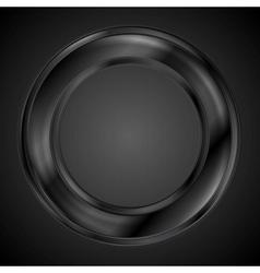 Abstract black ring logo vector image