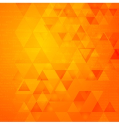 Abstract triangle tech background vector image vector image