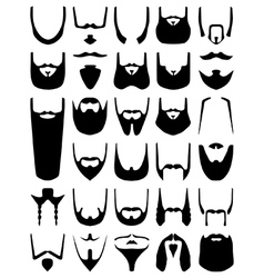 Beard silhouettes vector image vector image