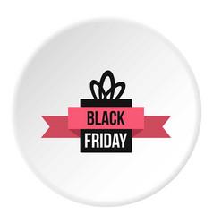 Black friday gift box icon circle vector