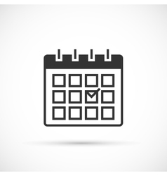 Calendar icon on white background vector image vector image