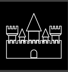 castle it is icon vector image