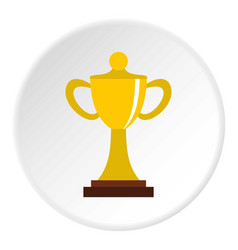 Championship cup icon circle vector