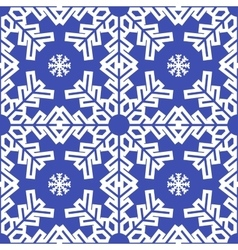 Christmas blue snowflakes seamless background vector