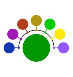 circular scheme chart vector image