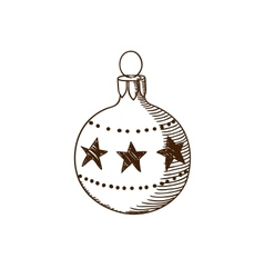 Decoration toy ball vector image