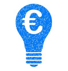 Euro patent icon grunge watermark vector