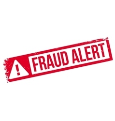 Fraud alert rubber stamp vector