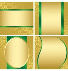 golden decorative cards - set vector image vector image