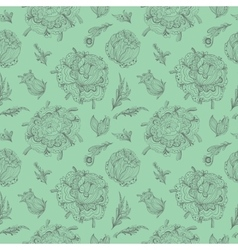Green provence pattern vector