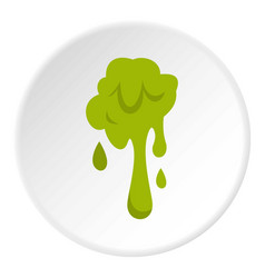 Green slime spot icon circle vector