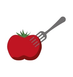 healthy and organic food fork design vector image