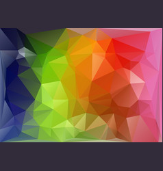 horizontal multicolor low-poly vector image vector image