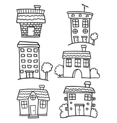 House set hand draw doodles vector