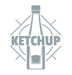 ketchup logo simple gray style vector image vector image