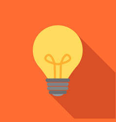 Light bulb icon in flat style vector