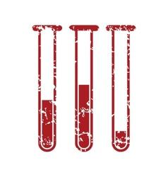 Red grunge flasks with medicines logo vector