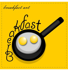 Scrambled eggs vector