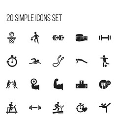 Set of 20 editable sport icons includes symbols vector