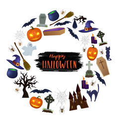 set of scary halloween vector image vector image