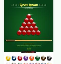 Snooker vector