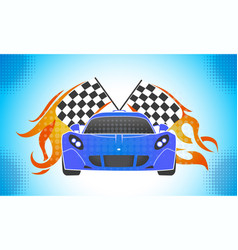 Sports cars retro style vector