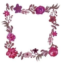 Square floral frame vector image vector image