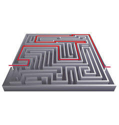 way pass intricacy labyrinth isometric maze vector image vector image