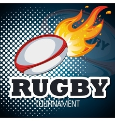 rugby goal ball blue background graphic vector image