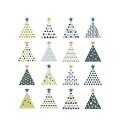 Cristmas Trees Set vector image