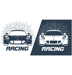 sports cars silhouette vector image
