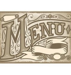 Vintage graphic element for menu vector