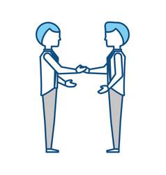 Business teamwork cartoon vector