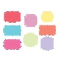 Blank colored labels vector