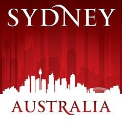 Sydney australia city skyline silhouette vector