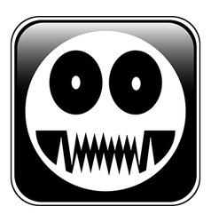 Monstar button vector image