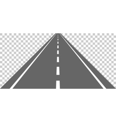 Straight road with white markings vector