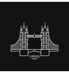 Tower bridge icon vector