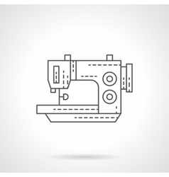Stitching machine flat thin line icon vector