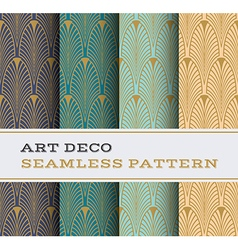 Art deco seamless pattern 01 vector