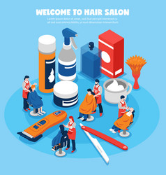 barbershop concept vector image vector image