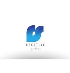 Blue gradient rs r s alphabet letter logo vector