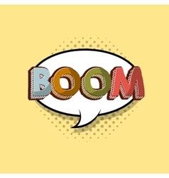 boom comic pop art style vector image