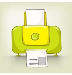 Cartoons printer vector