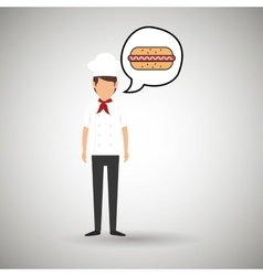 Chef cook food restaurant vector