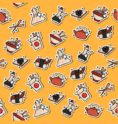 Chinese food concept icons pattern vector