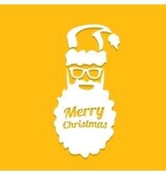 Christmas hipster poster for greeting card vector