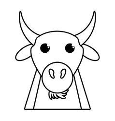 coat animal farm isolated icon vector image vector image